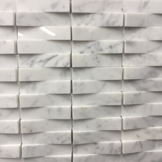 300x300 sheet CARRARA Marble basketweave pattern