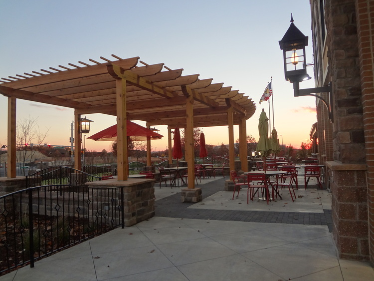 Cafe Seating with Custom Pergola