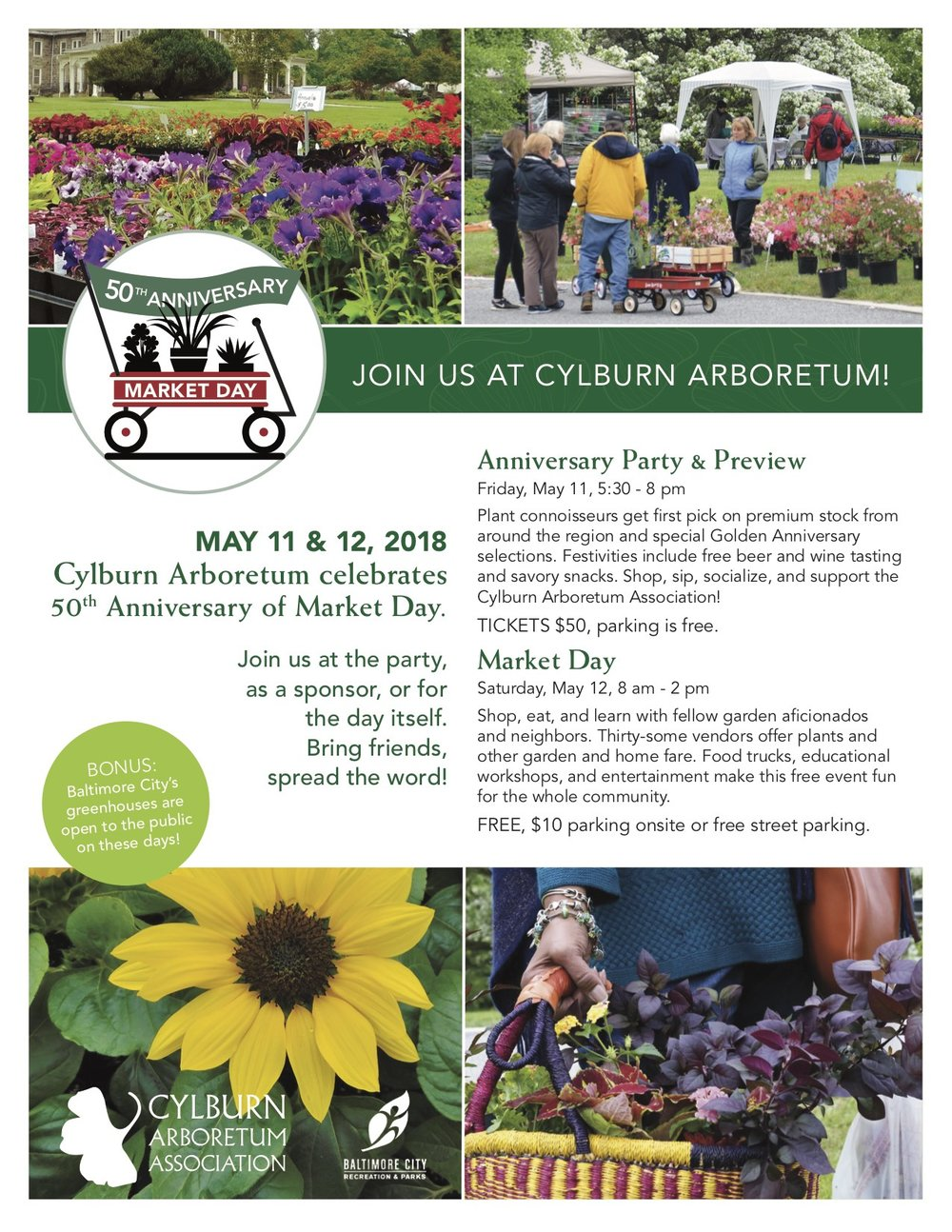 Cylburn Arboretum 50th Anniversary Market Day Event 2018 - Intreegue Design