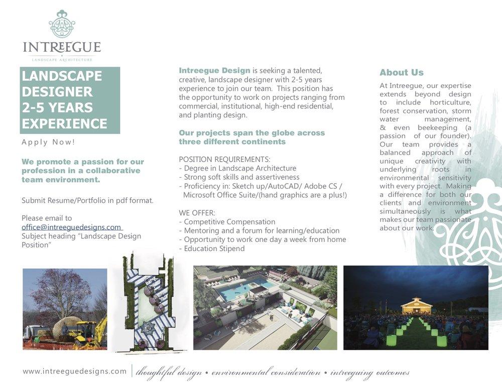 Landscape Designer - Intreegue Design