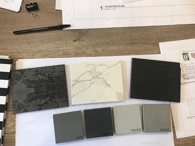 Selecting samples for a project soon to be under construction! We're using some cool new products on the market. We'll keep you posted! #dekton #innovativedesign #landscapearchitecture #intreeguedesign