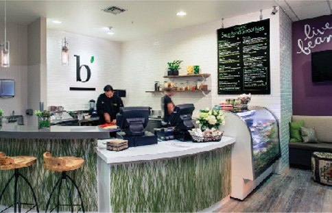 Beaming, a Del Mar raw foods cafe.