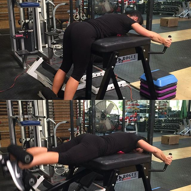 #tight 'n my butt! Getting a serious burn doing these #weighted  #glute hyper-extensions #shapingmybutt #strength #power #paleo #fitmom #fit #motherof5 #motherswholift #girlswholift #goals #bodybuilding #body #fitnessmodel #bodybydrea #andreatagalog
