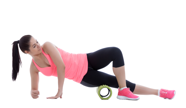 Foam Rolled consistently before stretching and exerciseing