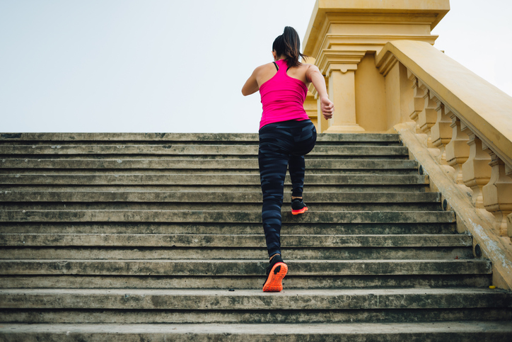 Running Stairs, fat burning workout