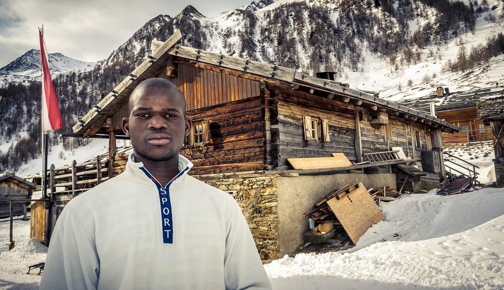 Madani Dambele aus Mali, hier auf der Fane Alm oberhalb von Vals / Mühlbach