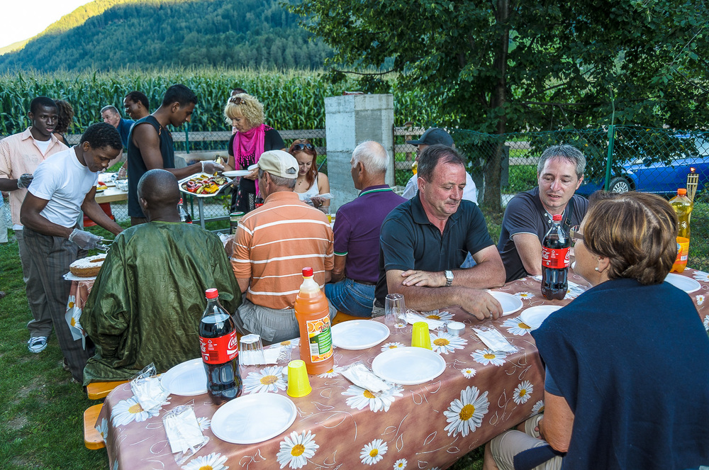 Feier zum Abschluss des Ramadan (2012) mit dem Bürgermeister Walter Huber