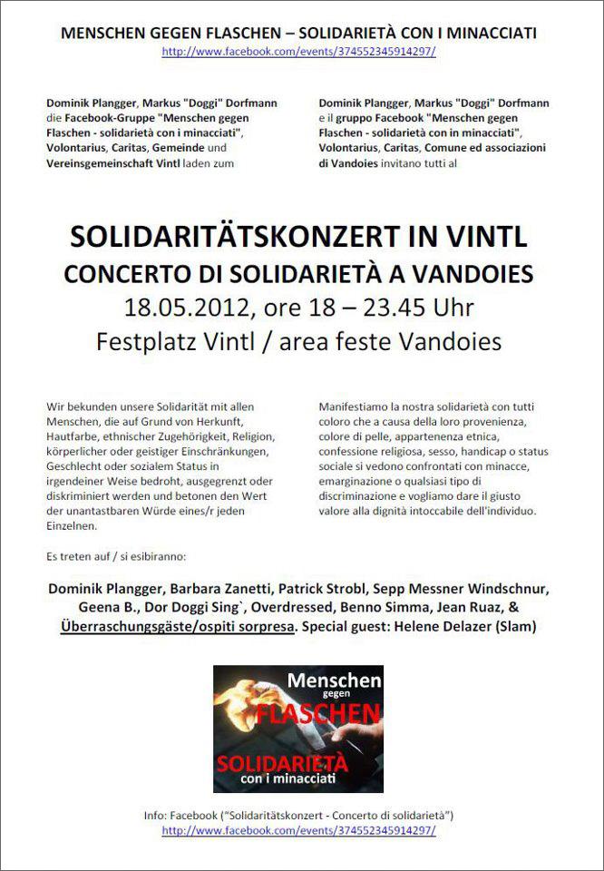 Der Flyer zum Konzert