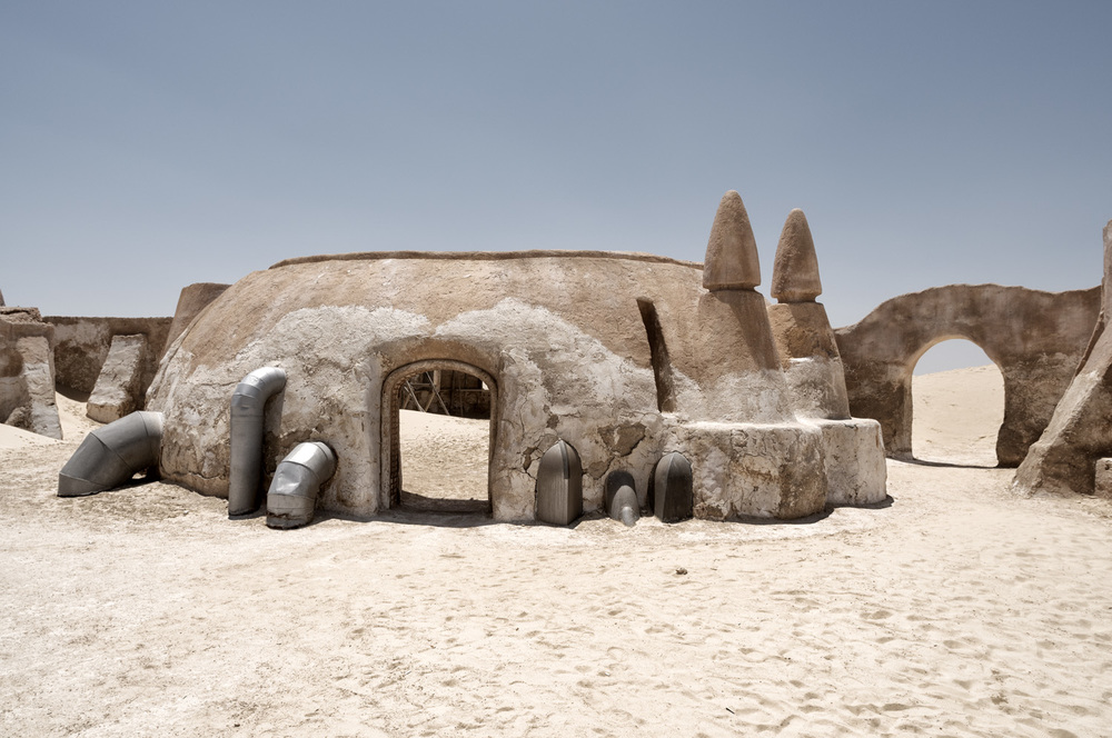 "Star Wars Movie-Location near to Touzer -Tunisia (Ong El Jemel) ""Mos Espa"""