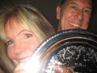 Dave and Michelle Lovett Us With Award from CCPro