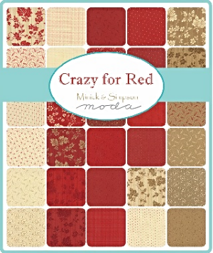 Crazy for Red by Minick and Simpson for Moda Fabrics