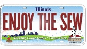 Our Shop's collectible fabric license plate!