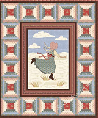 Prairie Life Quilt features the Walnut Grove fabrics.  RockingChairquilts.com will have patterns and Kits for  you in  November, 2015.