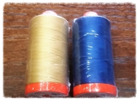 A BUNDLE IS ALWAYS SWEETER WHEN IT INCLUDES SOME YUMMY AURIFIL THREADS! -2  BIG SPOOLS   of 50 WT MAKO COTTON colors 2920 and 2783