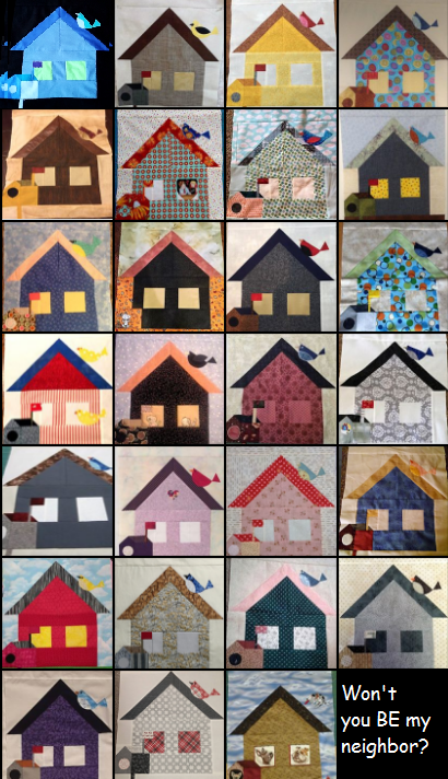 Uploads from last week.     #modabemyneighbor Quilt - A- Long participants Block 3 photo share.