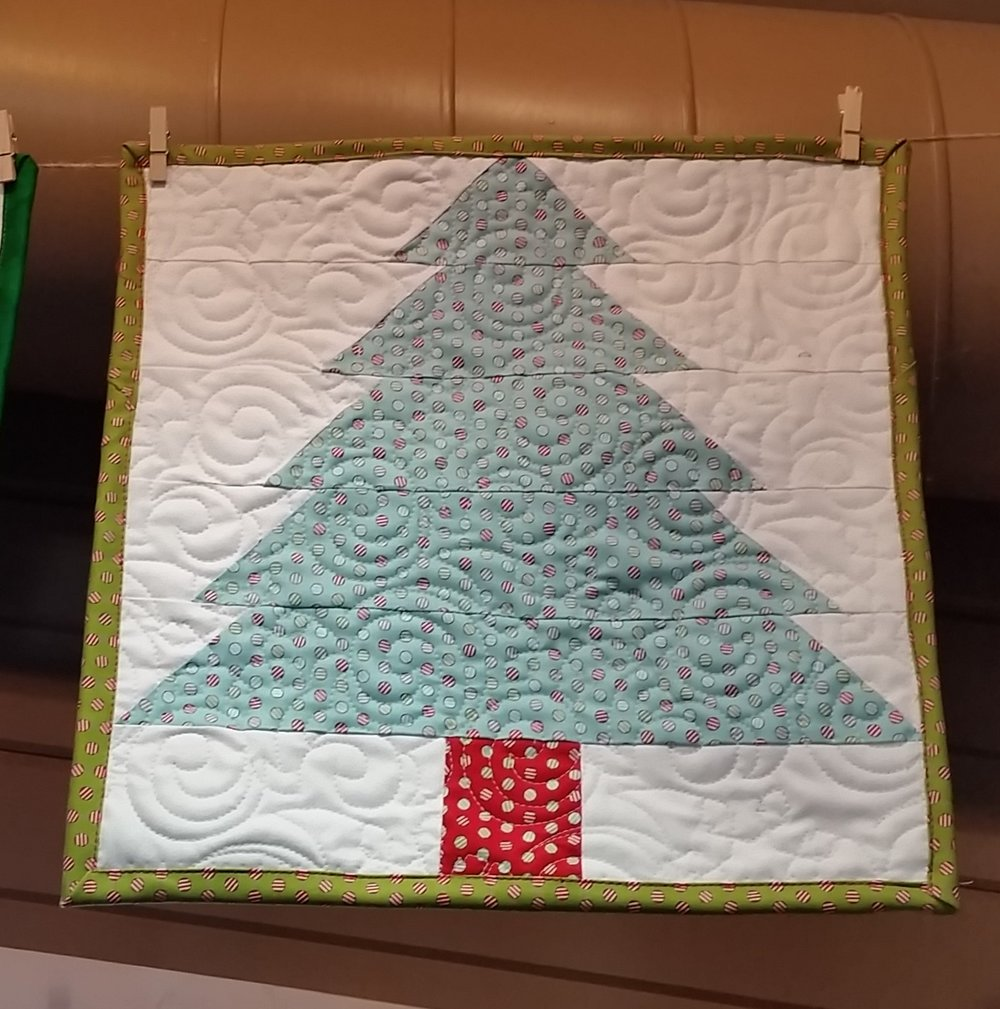 "The 12"" size block works nicely as a stand alone mini quilt."