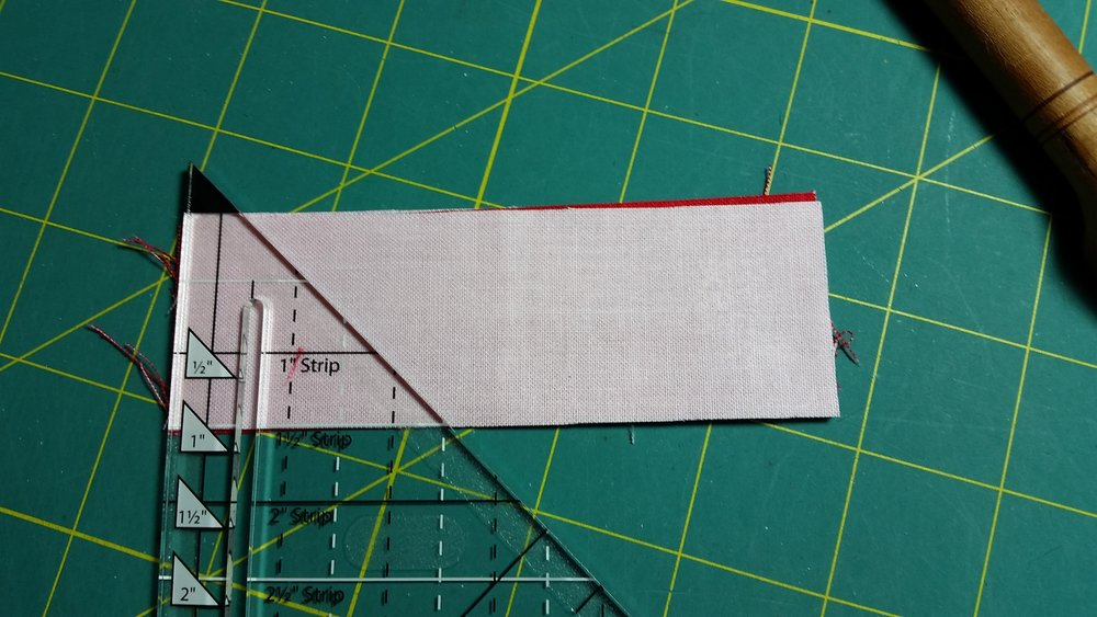 with strips RST use your ruler to cut