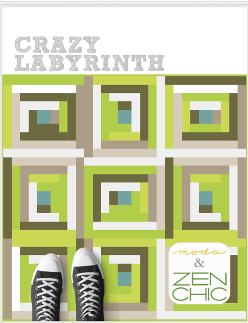 Crazy Labyrinth Jelly Roll Quilt Pattern Free Digital Download