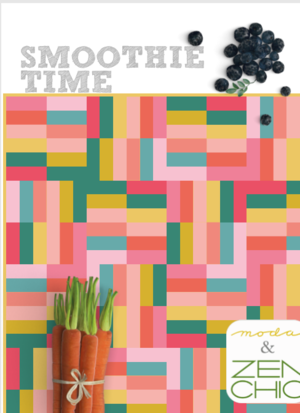 Smoothie Time Jelly Roll Quilt Pattern Free Digital Download