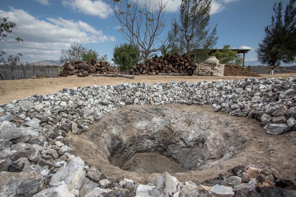 Horno tradicional de tierra.
