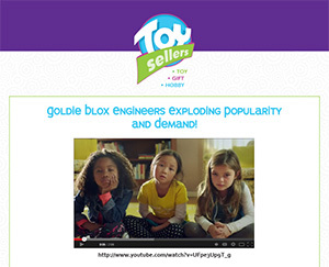November 2013 - Goldie Blox Breaks YouTube (This email used our new template for the first time)