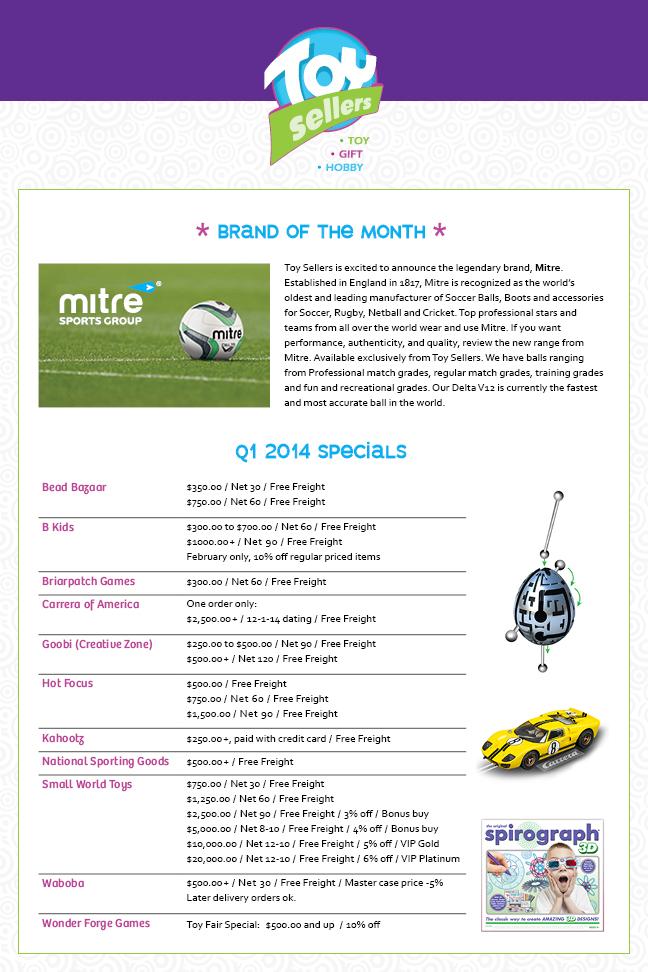 First Quarter 2014 Promos, Terms & Specials