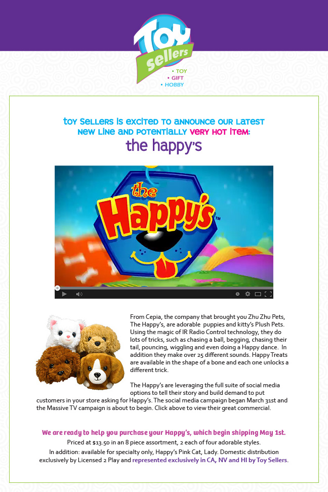 License 2 Play Introduces The Happy's
