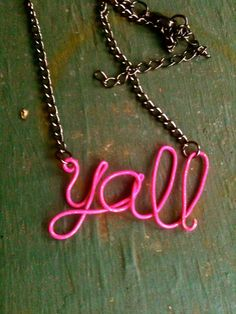 Say it all with this chain from Etsy.