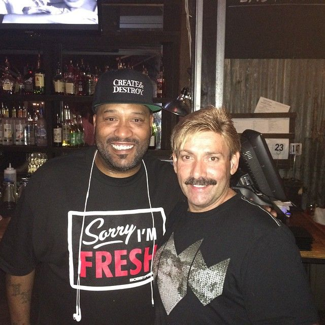 I spotted local rapper  Bun B  and  Juan Carlos  from America's Got Talent across the bar posing for pictures. It took me a second to realize I was seeing people I've only seen on TV in real life.