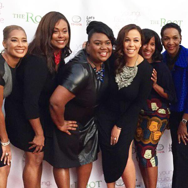 From left to right: Dr. Camille Cash, Denise Hamilton, Tera Roberson, Devi Dev, Joy Sewing, and Suzette Turner-Caldwell