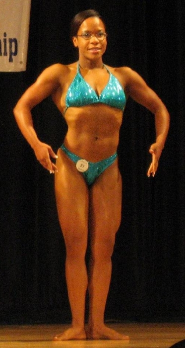 I competed as a Novice in the Women's Bodybuilding Category in 2008. I won 2nd place!