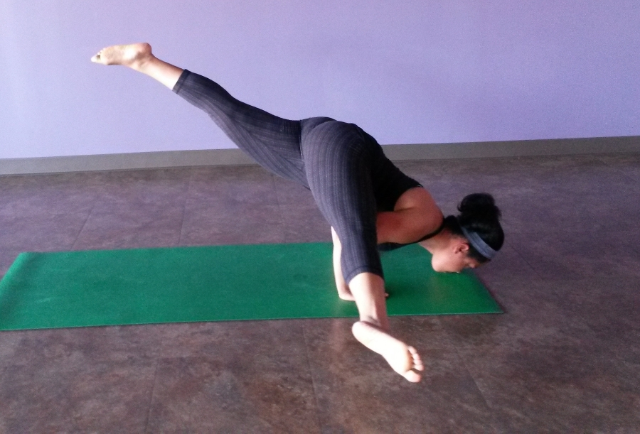I was in such awe that I could do this, after nearly a year of no yoga. My body is pretty dope!  Joy Yoga