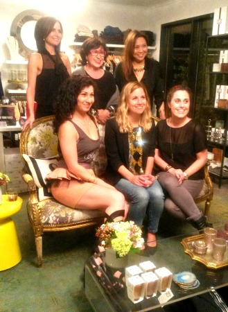 Standing  ( from left to right)- Co-Owner of  Cakewalk  , Jennifer Grigsby, Roz Pactor of  My Red Glasses,  and Co-Owner of Cakewalk Gina Cartwright.  Seated  ( left to right) Sahar Paz, Megan Silianoff, and Julie Lauren.