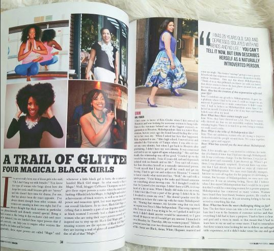 Young Black Professionals Magazine Feature- A Trail of Glitter Four Magical Black Girls Issue 1: Fall 2016