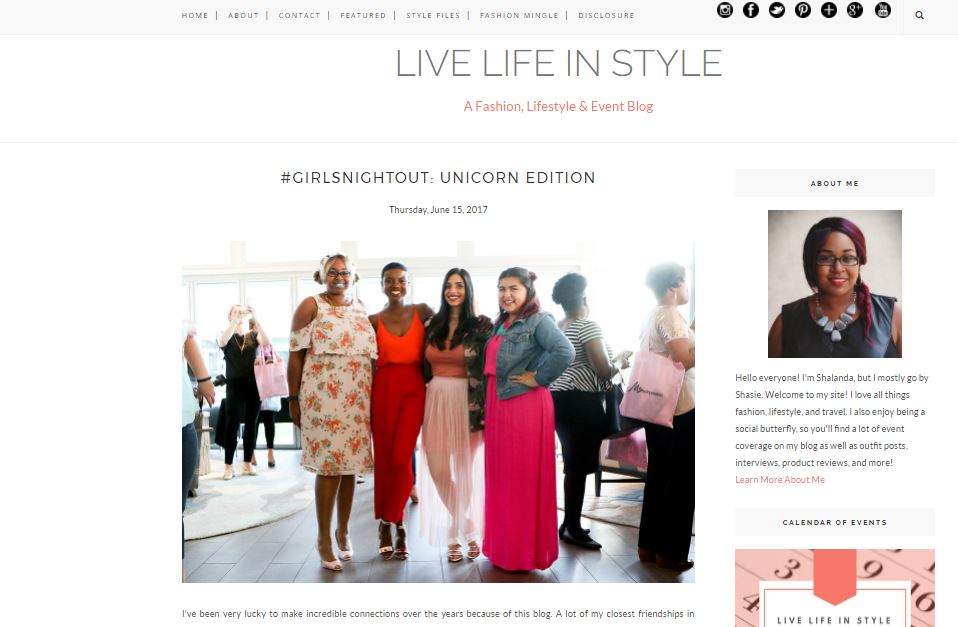 Live Life In Style Blog Feature- #GirlsNightOut: Unicorn Edition I've been very lucky to make incredible connections over the years because of this blog. A lot of my closest friendships in Houston are with fellow bloggers. Erin Creeks is an entrepreneur extraordinaire