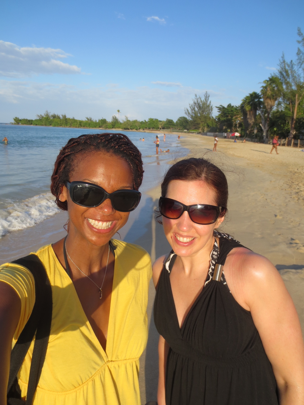 "Me and Jen on a ""ladycation"" in Jamaica."