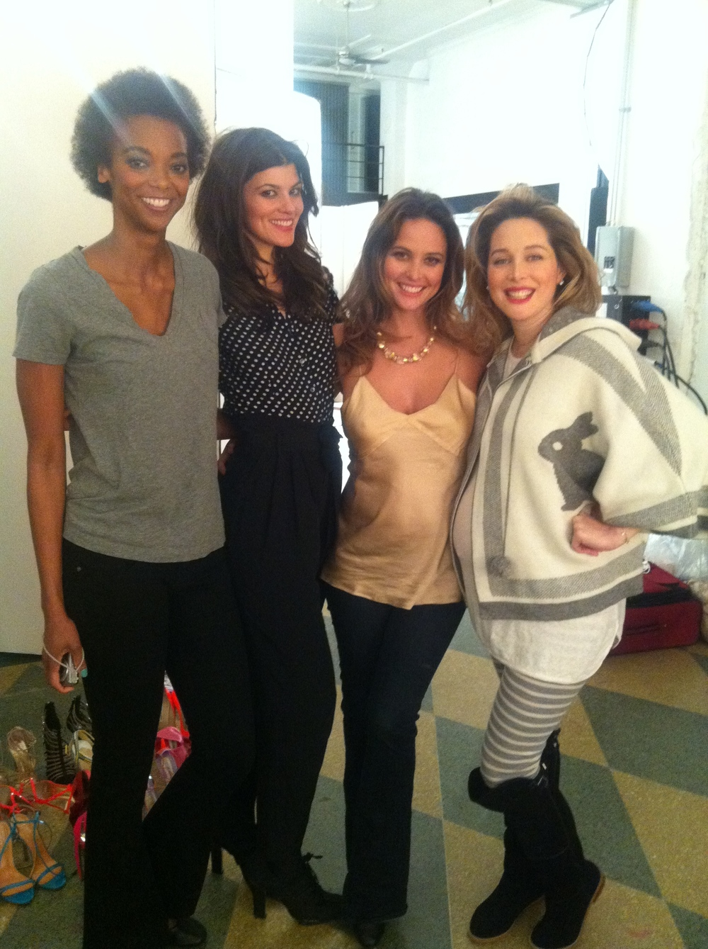 My fellow Glamour Green Beauty Gurus, Summer Rayne Oakes, Josie Marin and Tata Harper at our shoot for the magazine.