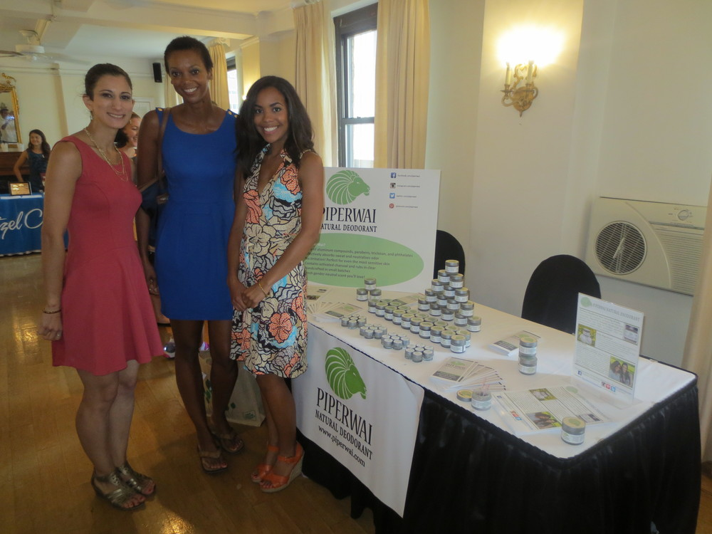 With PiperWai Natural Deodorant founders Jess Edelstein and Sarah Ribner.