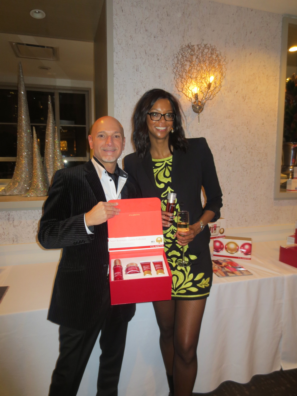 With Tony Losavio, Education Manager of Clarins.