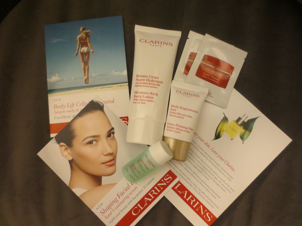 So excited about my Clarins takeaways!