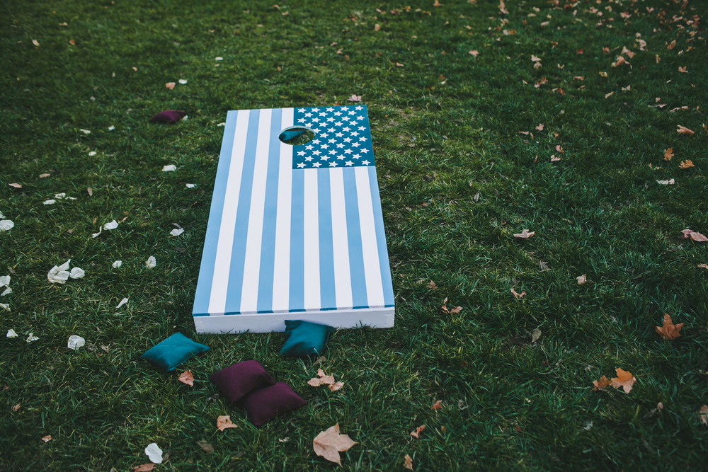 Kneale_Wedding_Cornhole_USA_Board