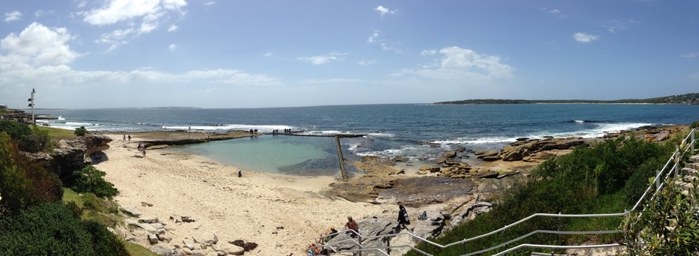 The walkway my hubby grew up by: The Esplanade, Cronulla.