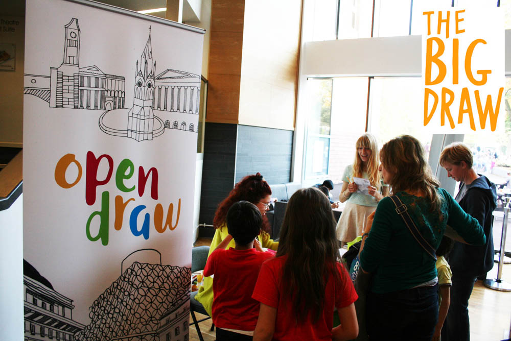 Open Draw for The Big Draw 2015 at mac birmingham Producer October 2015