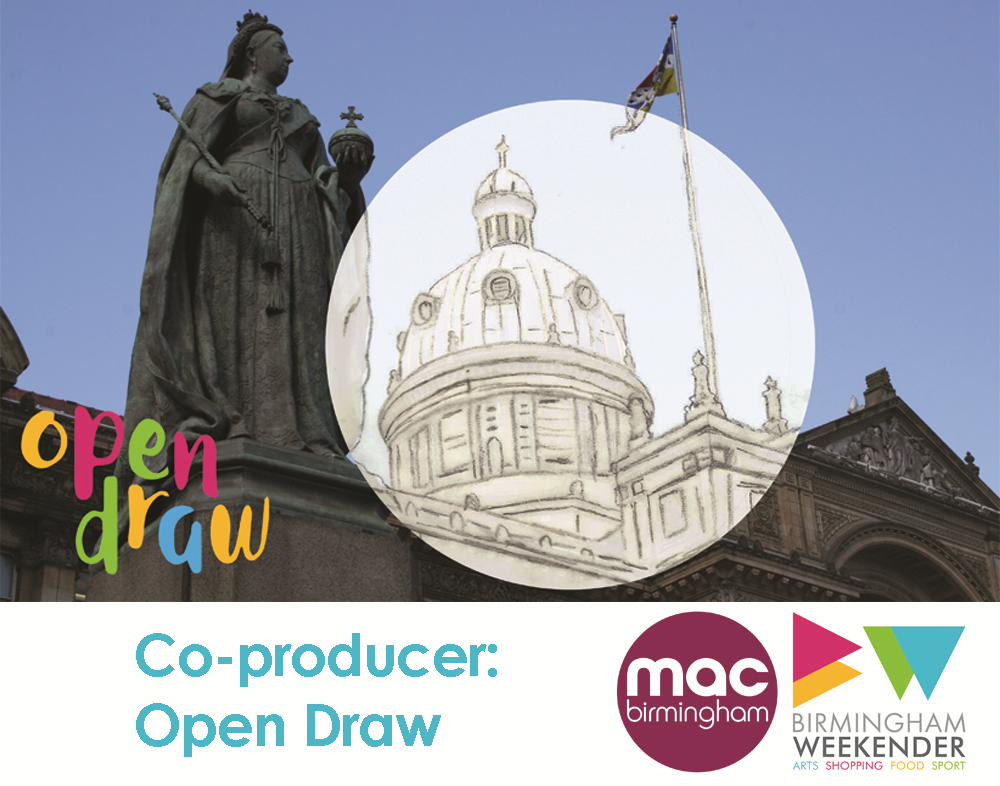 Open Draw - part of Birmingham Weekender 2015 in associated with mac. Co-Producer April - September 2015