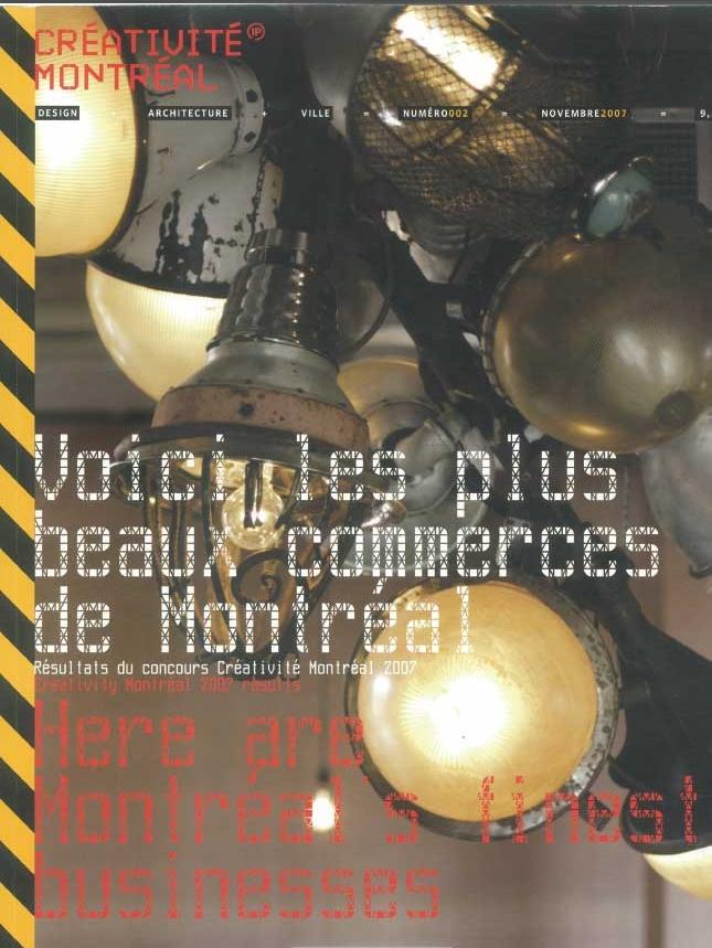 Créativité Montréal  - Nov 2007