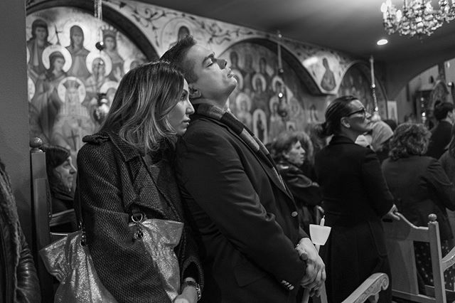 The Long Mass  #Easter #GreekOrthodoxEaster #Instagram #OrthodoxEaster #bw #capturestreets #event #everybodystreet #facebook #holidays #ig_streetphotography #lensculturestreet #streetphotographers #streetphotography #nyc #newyork #queens #astoria