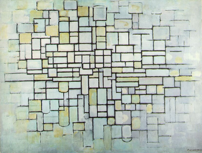 Piet Mondrian's Composition No. II; Composition in Line and Colour (1913)