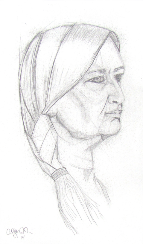 Woman with a Braid  Graphite