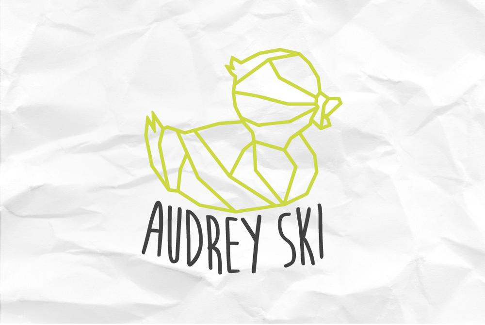 Audrey Ski Business Card Back