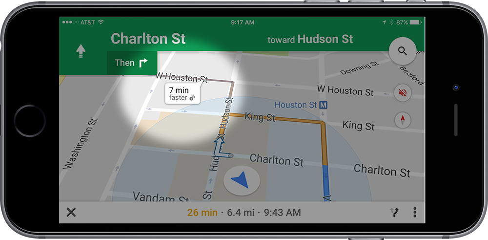 Like any good navigator, Google Maps offers quicker routes when available. Apple—not so much.